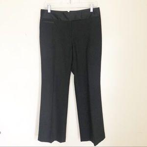 Ann Taylor Wide Leg Black Wool Tuxedo Pants Sz 6